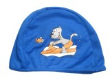Childrens Blue Fabric Swimming Cap - 3220